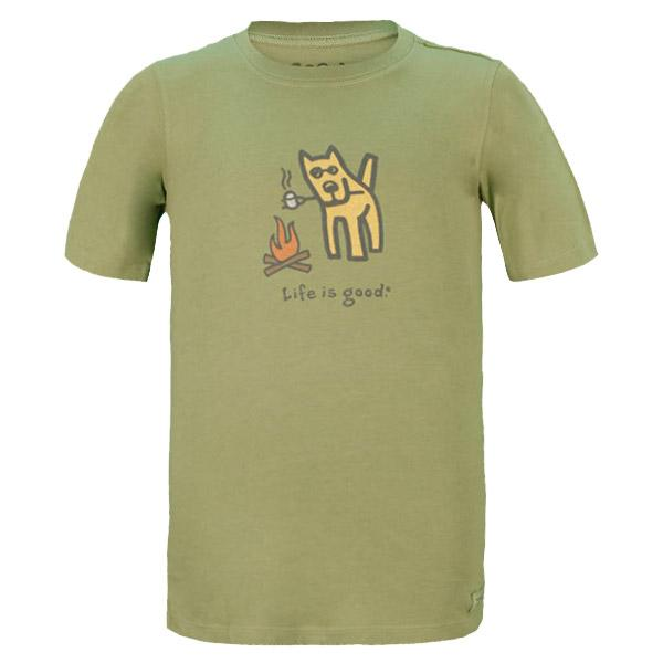 Boy's Camp Dog Crusher Tee Palm Green