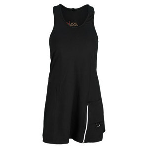 VICKIE BROWN WOMENS CARGO TENNIS DRESS BLACK