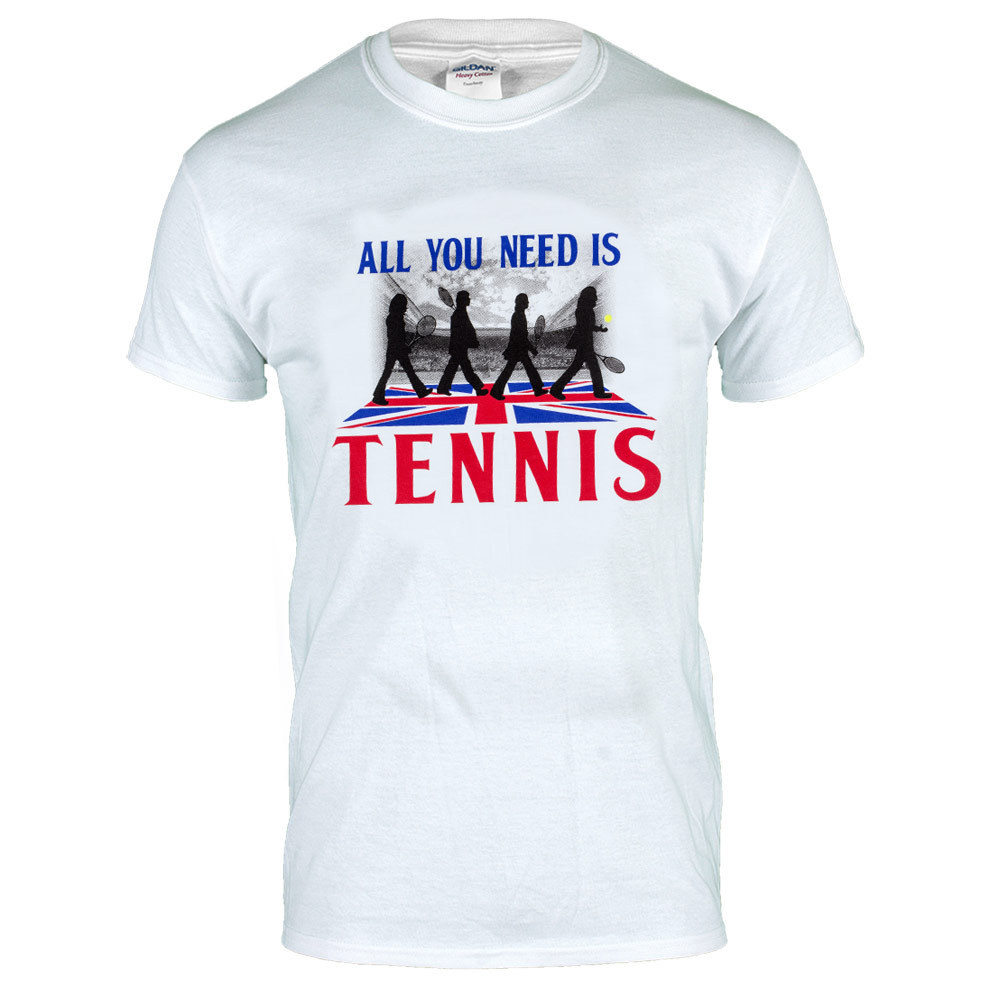 All You Need Is Love Unisex Tennis Tee In White