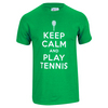 TENNIS EXPRESS Keep Calm Play Tennis Unisex Tee Green