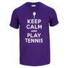 Keep Calm Play Tennis Unisex Tee Purple (XL  XXL Only!) by NO SHOW