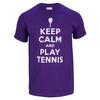 TENNIS EXPRESS Keep Calm Play Tennis Unisex Tee Purple (XL  XXL Only!)