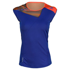 adidas WOMENS ADIZERO CAP SLEEVE HERO INK