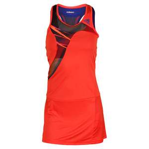 adidas WOMENS ADIZERO TENNIS DRESS HI-RES RED