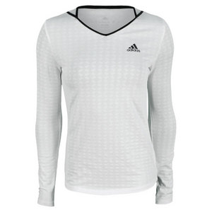 adidas WOMENS TS ENGINEERED LS TEE WHITE