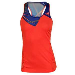 adidas WOMENS ADIZERO TANK HI-RES RED