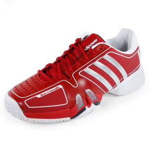 adidas MENS BARRICADE 7 NC SHOES RED/WHITE