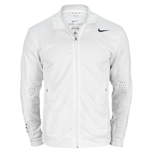 Men's Premier Roger Federer Knit Tennis Jacket White