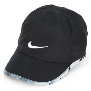 NIKE WOMENS GRAPHIC FEATHERLIGHT CAP BLACK