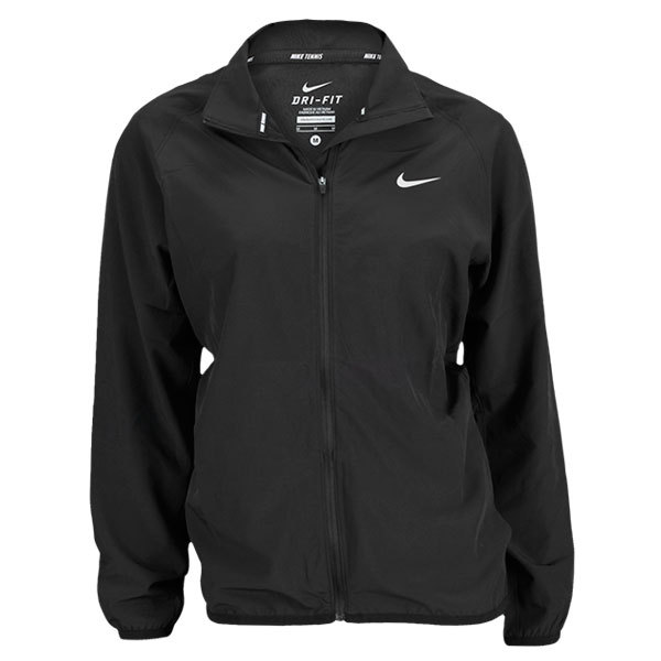 Women's Woven Full Zip Jacket Black