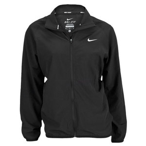 NIKE WOMENS WOVEN FULL ZIP JACKET BLACK