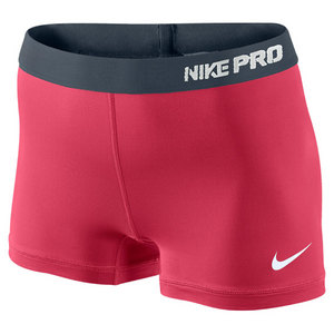 NIKE WOMENS PRO 2.5 INCH SHORT II FUSION RED