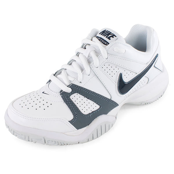 boys city court 7 tennis shoes white and silver