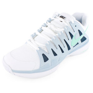 NIKE WOMENS ZOOM VAPOR 9 TOUR SHOES WH/LT BL