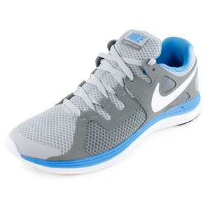 NIKE MENS LUNARFLASH+ RUNNING SHOES GRAY/BLUE
