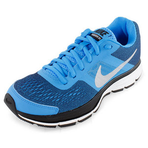 Boys` Air Pegasus+ 30 Running Shoes Blue and Black