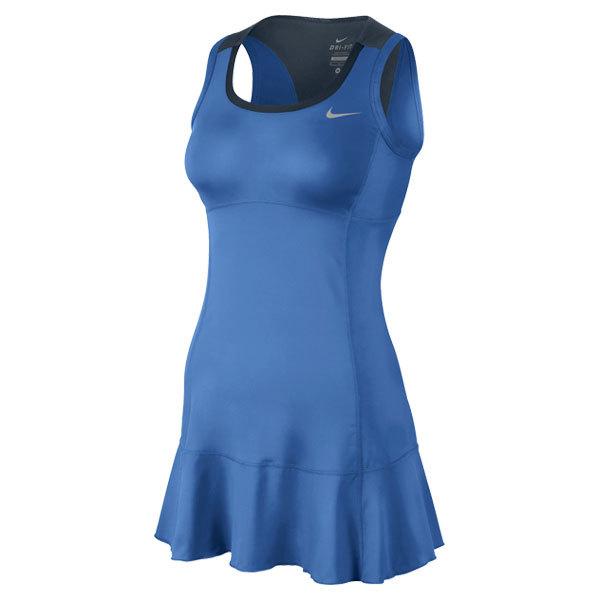 Women's Flouncy Knit Tennis Dress Distance Blue