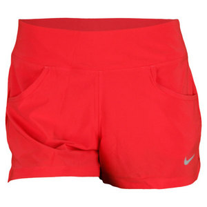 NIKE WOMENS VICTORY TENNIS SHORT FUSION RED