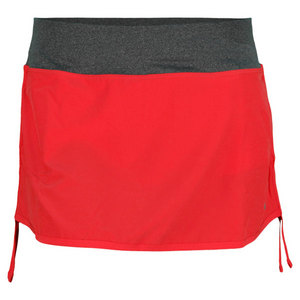 NIKE WOMENS RIVAL STRETCH WOVEN SKORT RED