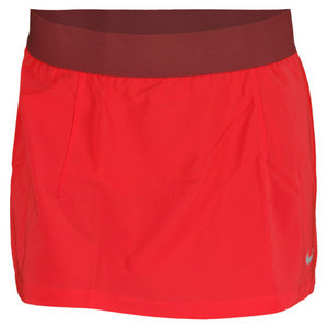 NIKE WOMENS SLAM TENNIS SKIRT FUSION RED
