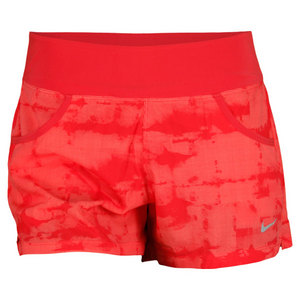 NIKE WOMENS VICTORY PRINTD SHORT FUSION RED