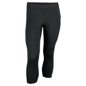 NIKE WOMENS CAPRI TENNIS TIGHT BLACK