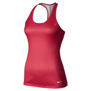 NIKE WOMENS SCULPT PRINT TANK FUSION RED