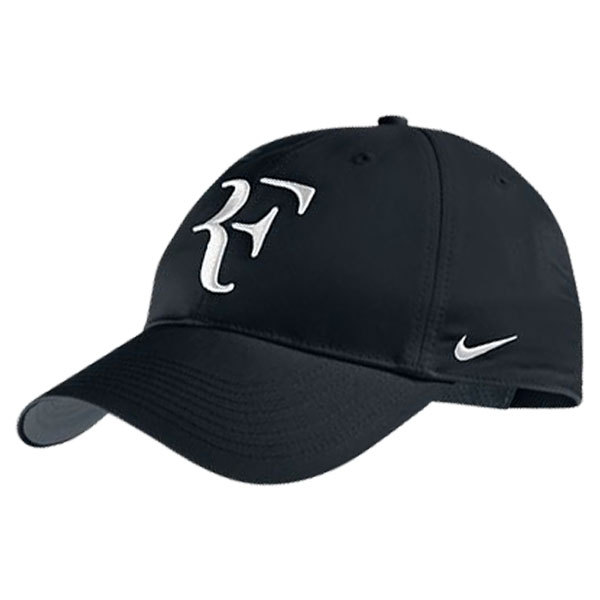 Men's Roger Federer Hybrid Tennis Cap Black And Gray