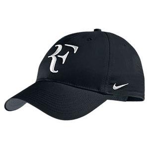 NIKE MENS RF TENNIS CAP BLACK/FLINT GRAY