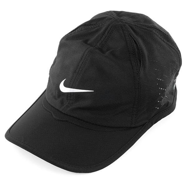 Men's Perforated Feather Light Tennis Cap Black