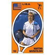 Martina Navratilova Panini Sticker Card