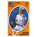 TENNIS EXPRESS Martina Navratilova Panini Sticker Card