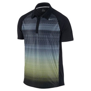 NIKE MENS ADVANTAGE UV GRAPHIC POLO BLACK