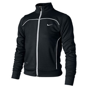 NIKE GIRLS WAFFLE DRI FIT KNIT JACKET BLACK