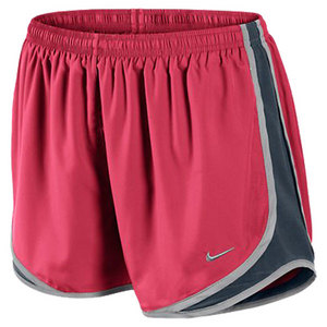 NIKE WOMENS TEMPO RUNNING SHORT FUSION RED