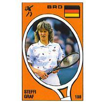 Steffi Graf Panini Sticker Card