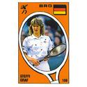 TENNIS EXPRESS Steffi Graf Panini Sticker Card