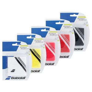 BABOLAT DOUBLE LINE TENNIS WRISTBANDS
