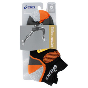 ASICS KAYANO CLASSIC LOW CUT SOCKS BLACK/ORANG