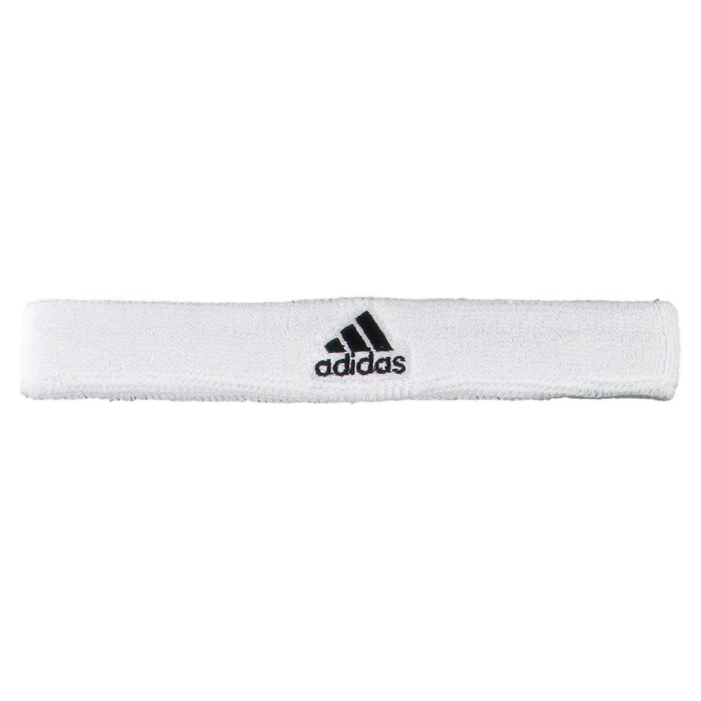 Interval Slim Tennis Headband White/Black