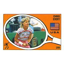 Chris Evert Panini Sticker Card