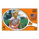 TENNIS EXPRESS Chris Evert Panini Sticker Card