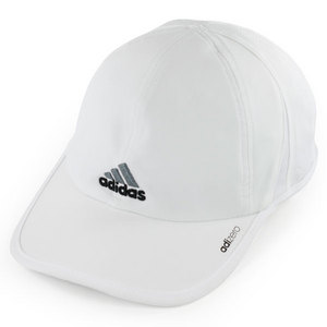 adidas MENS ADIZERO II TENNIS CAP WHITE/BLACK