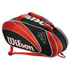 WILSON Federer 9 Pack Tennis Bag Red and Black