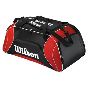 WILSON FEDERER DUFFLE TENNIS BAG RED/BLACK