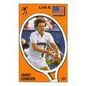 TENNIS EXPRESS Jimmy Connors Panini Sticker Card