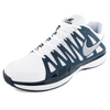 Men`s Zoom Vapor 9 Tour Clay Tennis Shoes White and Navy by NIKE