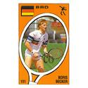 TENNIS EXPRESS Boris Becker Panini Sticker Card
