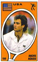 Andre Agassi Panini Sticker Card