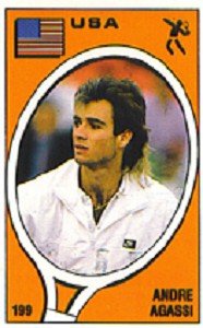 TENNIS EXPRESS ANDRE AGASSI PANINI STICKER CARD